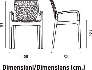 Dimensiuni scaune plastic